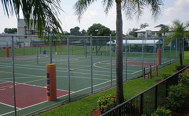 chain link tennis court fence fort lauderdale florida