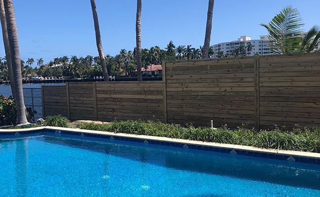 Shadow Box Wood Fence South Florida