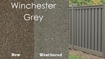 new and weathered winchester grey trex fence examples
